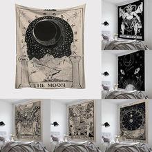 Таро подвесные гобелены солнце звезда гобелен с Луной хиппи Настенное подвесное одеяло Настенный Ковер Коврик для йоги Декор для дома, покрывало пляжный коврик