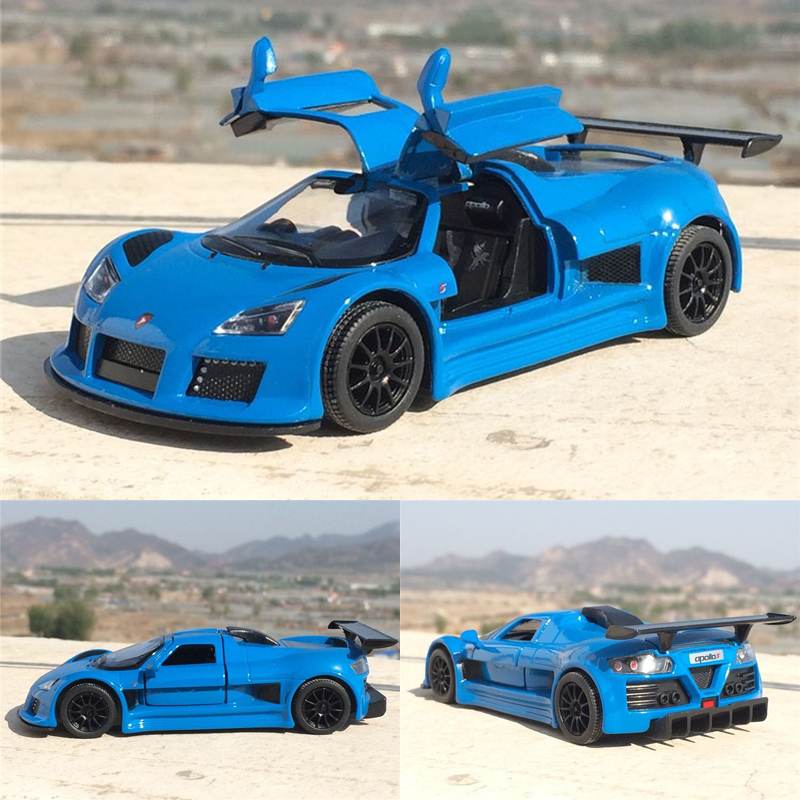 New 1:36 Scale Gumpert Apollo Sports Diecast Car Model Toy Educational Pull Back For Kids Gift Collection