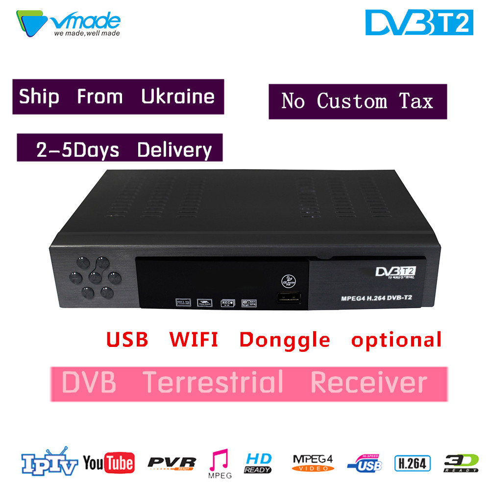 TV box DVB T2 Digital TV Terrestrial Receiver DVB T2 TV Tuner MPEG42/4 H.264 DVB T2 Set Top Box For Europe/Russian/Columbia