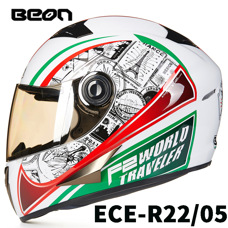 Brand Motorcycle Riding Anti Fog IOM Helmet BEON B500 Motorbike Moto Cross Full Face ABS Protection Capacete for Men and Women free shipping beon new fashion motorcycle half face summer moto helmet breathe four seasons authentic harley motorbike capacete