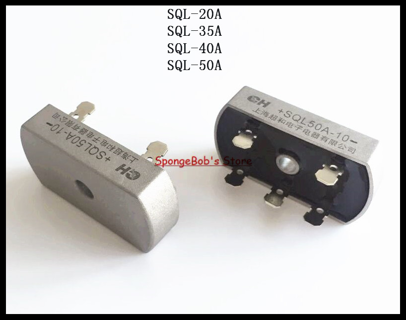 3Pcs/Lot SQL50A Bridge Rectifier 3 Phase Diode 50A Amp 1000V