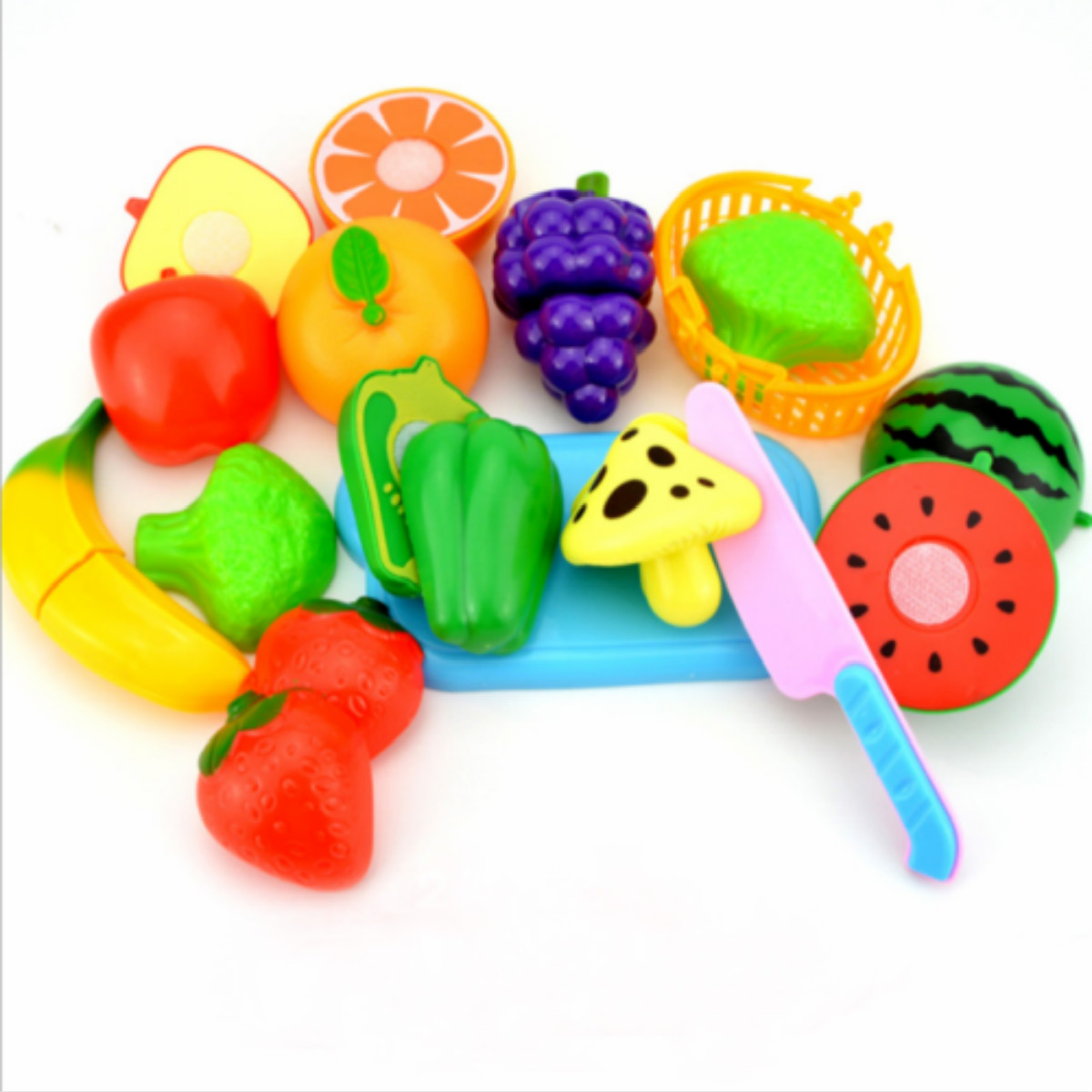 New Kids Kitchen Fruit Vegetable Food Pretend Role Play Cutting Set Toys Affordable