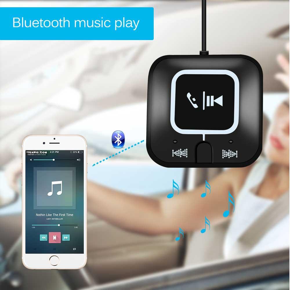 Funkadapter Der GüNstigste Preis Wireless 4,0 Bluetooth Audio Empfänger Freisprecheinrichtung Musik Mp3 Empfänger 3,5mm Aux Auto Kit Für Handy Mit Magnetische Platte Niedriger Preis