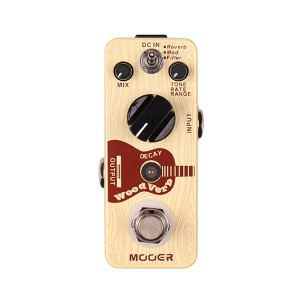Mooer WoodVerb Effect Pedal Micro Mini Acoustic Guitar Reverb Stompbox True Bypass MCH3 стоимость
