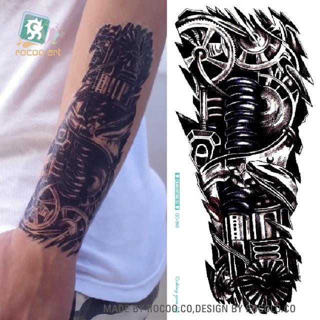 Rocooart Qc598 20x10 Cm Tatuajes Mangas Tatuaje Body Art Caja De