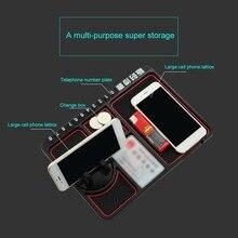 Car Anti-Slip Mat Phone Holder Multi-function Instrument Panel Storage Universal Dashboard Mount Stand