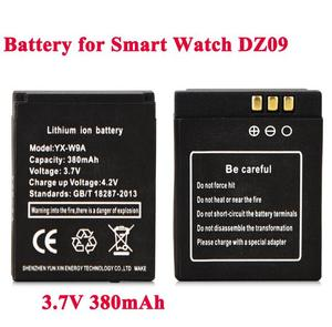 High Quality 1Pcs 3.7V 380mAh KSW-S6 RYX-NX9 SmartWatch Rechargeable Li-ion polymer battery For DZ09 A1 Smart Watch Battery