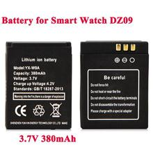 High Quality 1Pcs 3.7V 380mAh SmartWatch Rechargeable Li-ion polymer battery For DZ09 Smart Watch Battery Dropshipping Wholesale