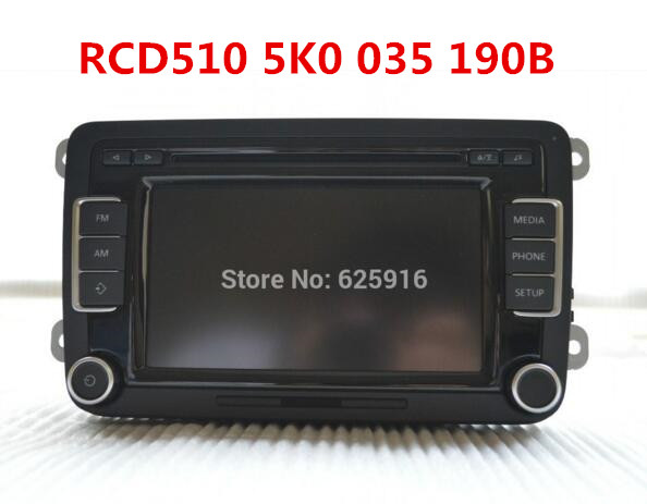 Original Car Radio EU RCD510 Code without Rear View Camera 5K0 035 190B VW Golf 5 6 Jetta CC Tiguan Passat  -  BeiJing DongFangTianHe Auto Parts store