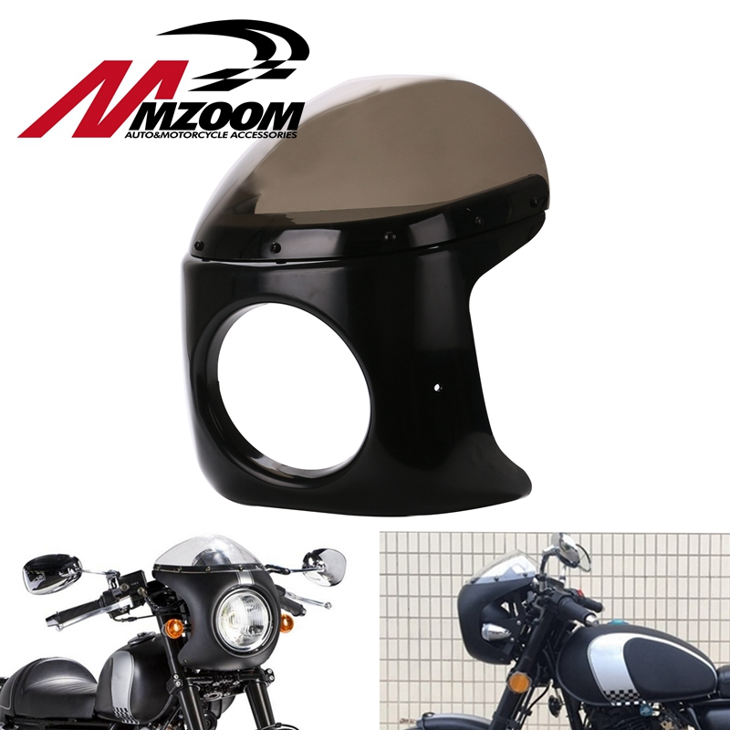 Free shipping Motorcycle Retro Racer Style Headlight Fairing with Screen Universal fit 7 inch Motorbike free shipping support series brands motorcycle scanner motorbike diagnostic repair scan tool rmt 7in1 motorcycle accessories