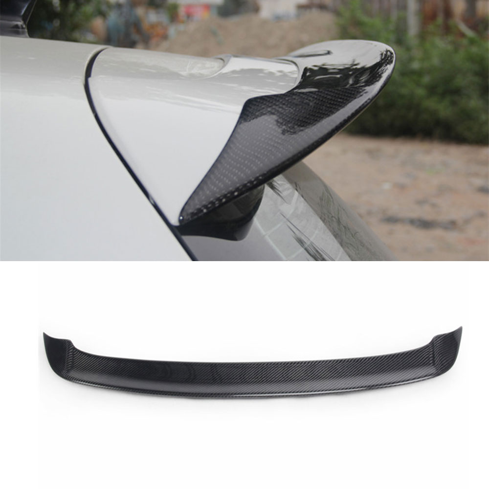 Carbon fiber rear roof spoiler lip wings for Volkswagen VW Golf 6 MK6 VI GTI R20 2010-2013 R Style Only GTI R20 real carbon fiber mirror cover case for vw golf 7 mk7 gti tsi vii jdm 2013 2015 [1031001]
