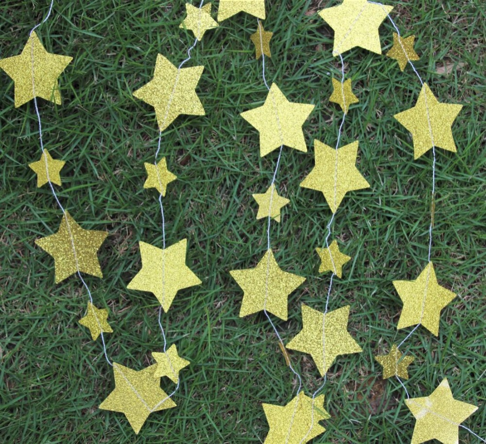 Gold star ornaments - Gold Star Ornaments