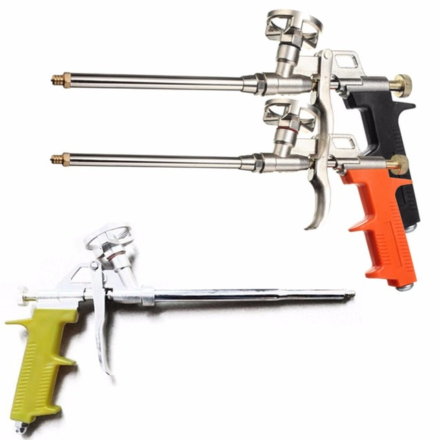 Черный желтый оранжевый профессиональный тяжелый пистолет из пенополиуретана, расширяющийся спрей, аппликатор длиной 28 см