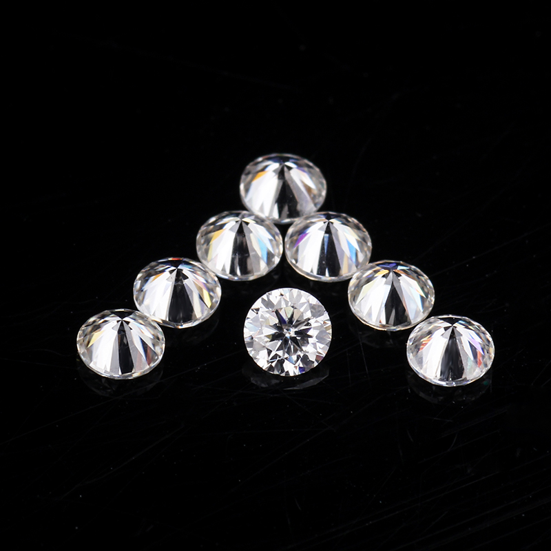 GH Color Near White 20pcs Loose Moissanites Diamond Beads 2.4mm Round Brilliant Moissanites Stones