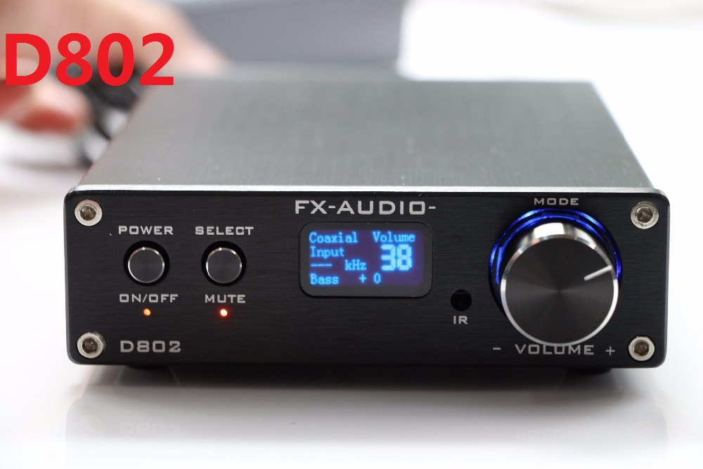 цена на Limited Special Offer FX-Audio D802 Digital Audio Amplifier 80W*2 Input USB/Optical/Coaxial 24Bit 192KHz DC32V/5A Power Adapter