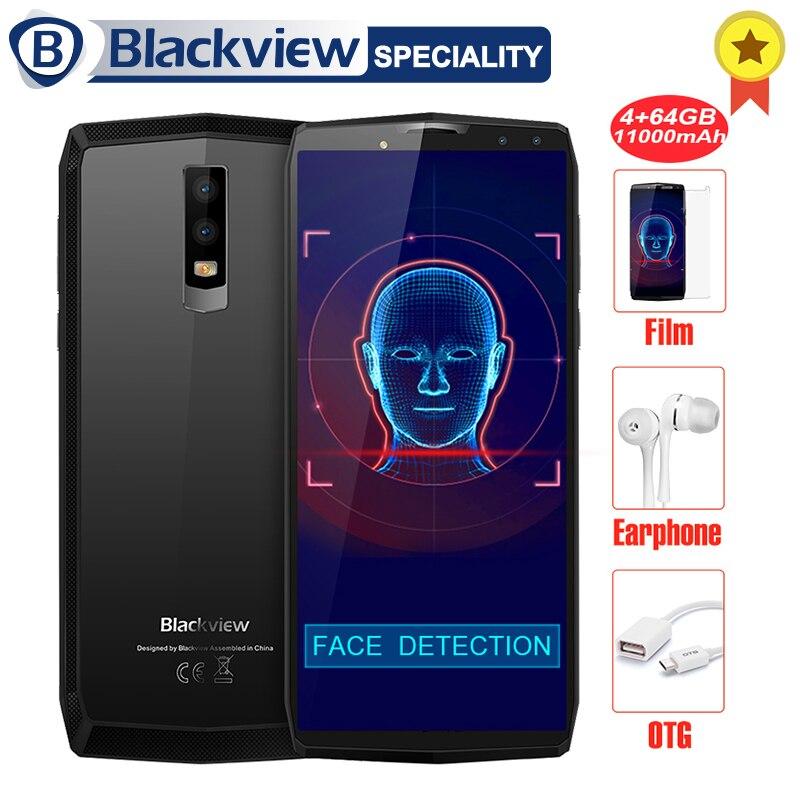 Blackview P10000 Pro Smartphone 5.99 En-Cellulaire FHD + MT6763 Octa Core 11000 mah BAK Batterie 5 v /5A 4 gb RAM 64 gb ROM 4g Mobile Téléphone