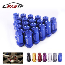 RASTP-20Pcs/Set Racing 50mm Wheel Lug Nuts Forged 7075-T6 Aluminum M12x1.5/M12x1.25 for Toyota/Honda RS-LN047