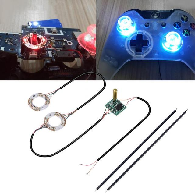 US $5 57 29% OFF|DIY Button Analog Mod Thumb Sticks Joystick Caps Led Light  Fits LED Lamp Ring For PS4 For xbox one 7 Colors-in Gamepads from Consumer