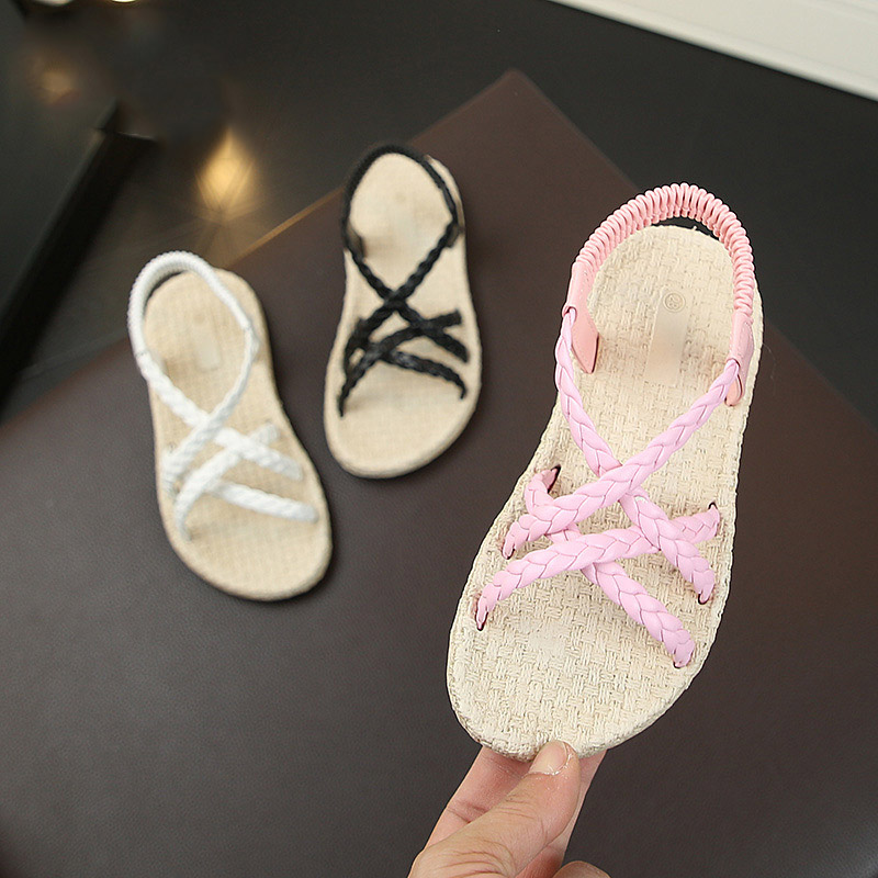 Girls Fashion Crochet Slip On Shoes 5 Color Youth Size 10-11 12-13 1-2 3-4 NEW