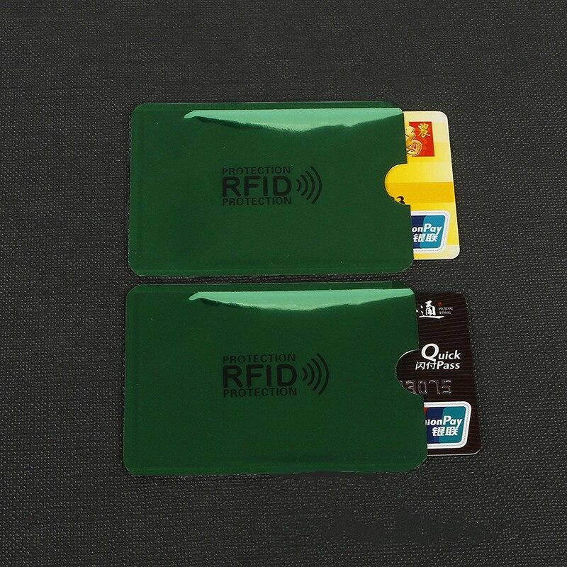 10 pcs Green Anti-Scan Card Sleeve Credit RFID Card Protector Anti-magnetic Aluminum Foil Portable Bank Card Holder10 pcs Green Anti-Scan Card Sleeve Credit RFID Card Protector Anti-magnetic Aluminum Foil Portable Bank Card Holder