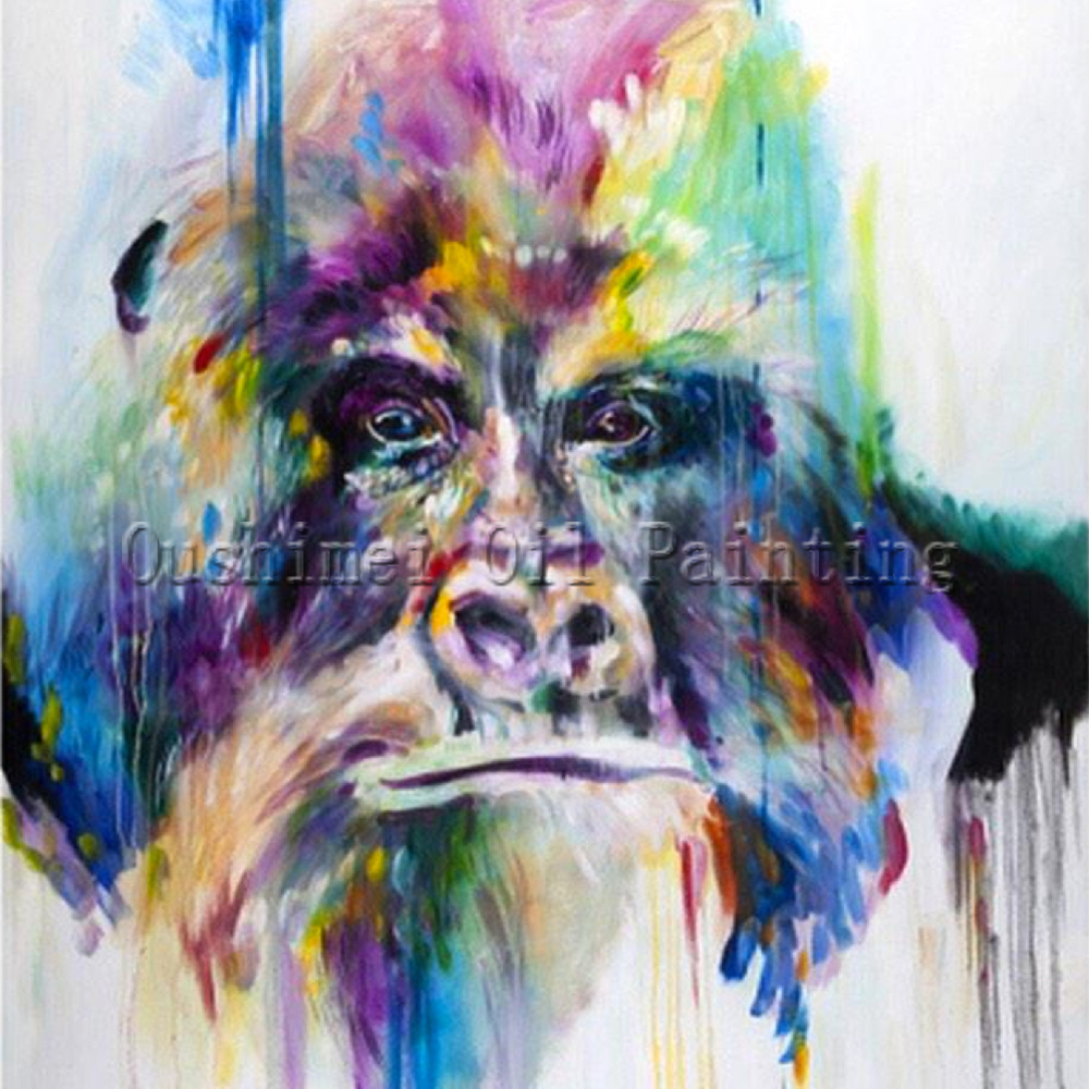 X series pure hand painted rainbow colors the kingkong for Hand painted portraits from photos