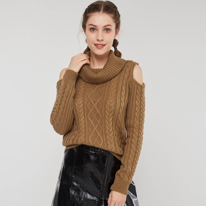 Women Sweaters Casual Office Lady Elegant Winter Wool Slim Pullover Turtleneck Wrapped Plain Female Fashion Sweet Tops Sweater