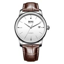 BOSS Germany watches men luxury brand counter genuine watch 24 jewels MIYOTA 9015 automatic mechanical silver relogio masculino