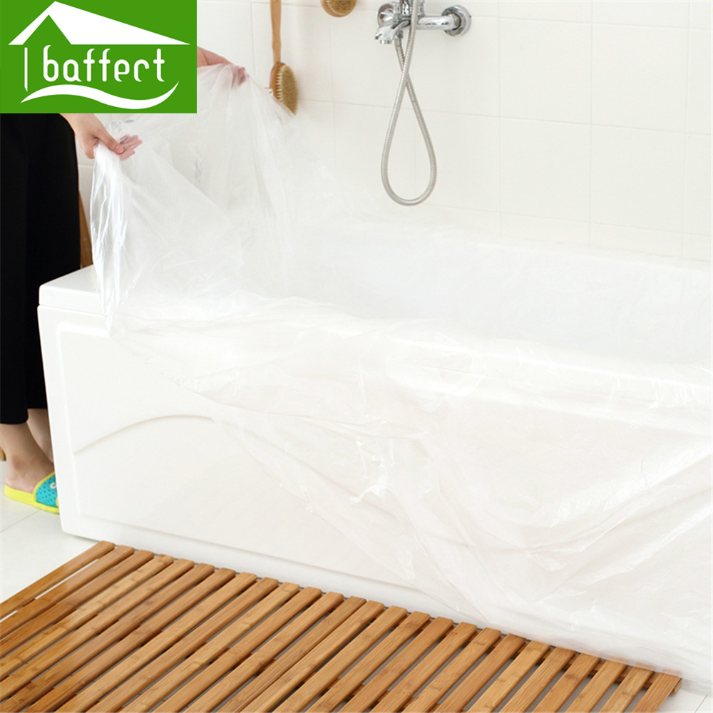 Baffect Disposable Travel Bathtub Film Foldable Thickened Disposable Bathtub  Cover Bag Family Hotel Bath Tub Film Home Decor In Bathroom Accessories  Sets ...