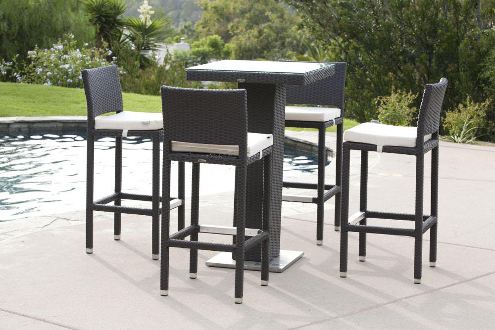 Trade Urance Handmake Wicker Synthetic Rattan Patio Bar Table And Chair Set In Outdoor Tables From Furniture On Aliexpress Alibaba Group