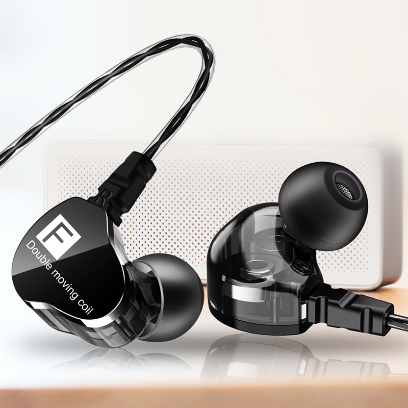 QKZ CK9 Double Motion Coil Headset Heavy Bass Phone Headset HiFi Call Headset Sport Headset