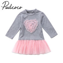 Outfit Dresses Ball-Gown Long-Sleeve Helen115 Baby-Girl Kids 6m-4y Lace Heart Lovely
