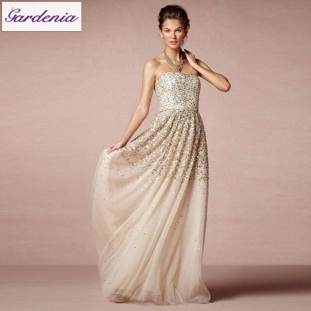 Glitter Trouwjurk.Romantische Sexy Vestido De Noiva Strapless Zware Kralen Onzichtbare