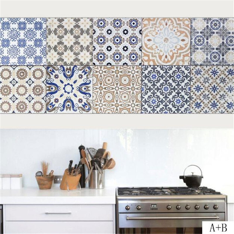 IDFAF Grey Ceramic Tile Floor Patterns Wall Stickers Kitchen ...