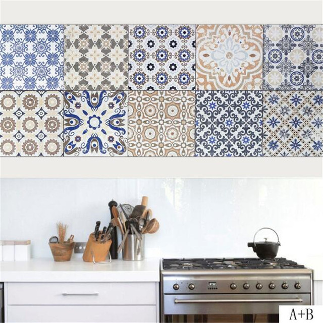 Inspirational IDFAF Grey Ceramic Tile Floor Patterns Wall Stickers Kitchen Bathroom Wall Floor Decal for Home Decoration In 2019 - Unique ceramic wall Pictures