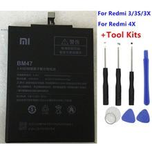 2018 Оригинальный Новый 4000 мАч BM47 Аккумулятор для Xiaomi Redmi 3 S Redmi 3X Redmi 4X Hongmi 3 S Redrice Hongmi 3 Bateria Baterie + инструмент