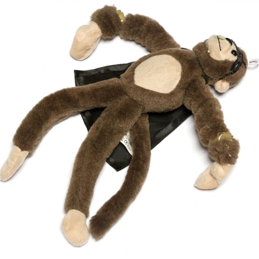 25cm New Funny Paw Toys Lovely Novelty Flying Monkey Screaming Slingshot Staffed Animal Plush Toys Kids Surprise Birthday Gifts