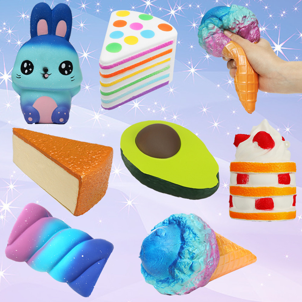 New Children Fun Toy Squishy Stress Reliever Toy Elastic ...