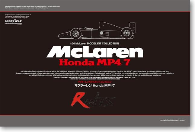 RealTS Tamiya 25171 1/20 Model Kit MP4/7-A Formula One KIT rolyan port a splint kit model a4264