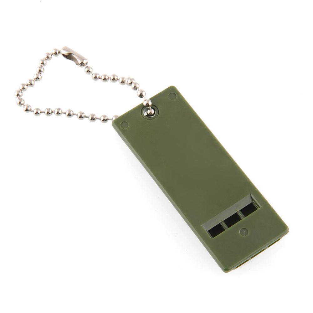NEW Ultimate Survival Rescue Tool Equipment Emergency Signal Sound Whistle Keychain For Outdoor Spor