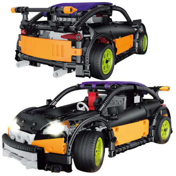 20053 640Pcs Technic The Hatchback Type R Set MOC-6604 Remote Control Buliding Blocks Bricks Toys Compatible with