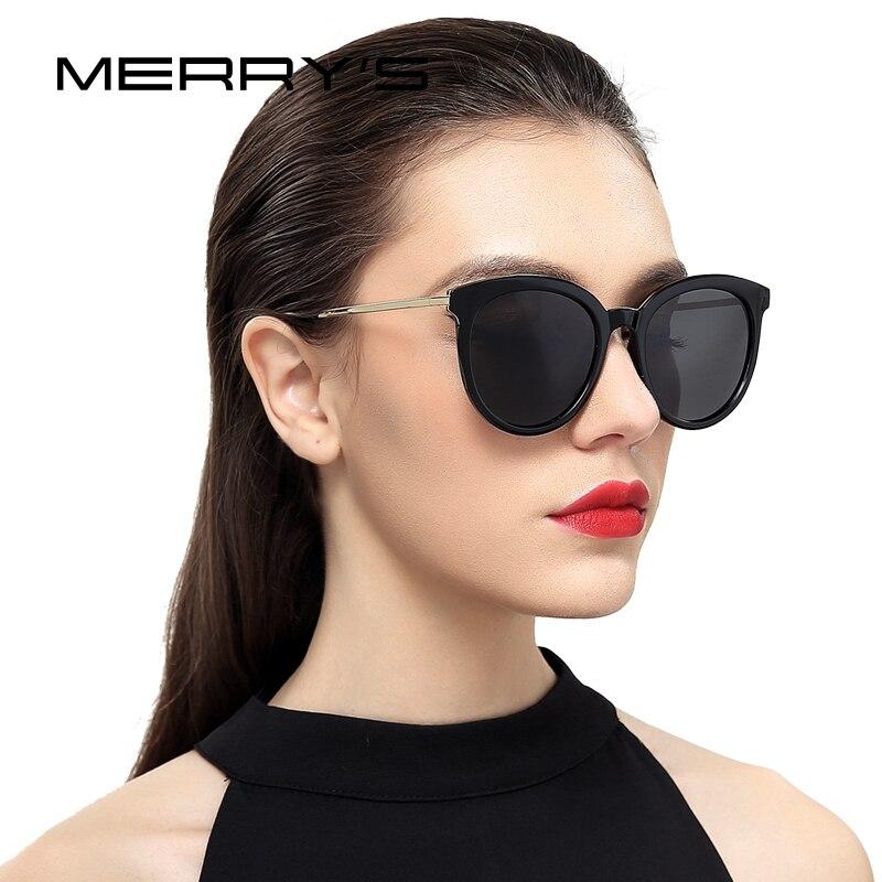 MERRYS de las mujeres de la marca de ojo de gato gafas de sol polarizadas 100% de protección UV S6152