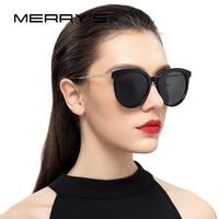 MERRY S Women Brand Designer Cat Eye Polarized Sunglasses 100 UV Protection S 6152
