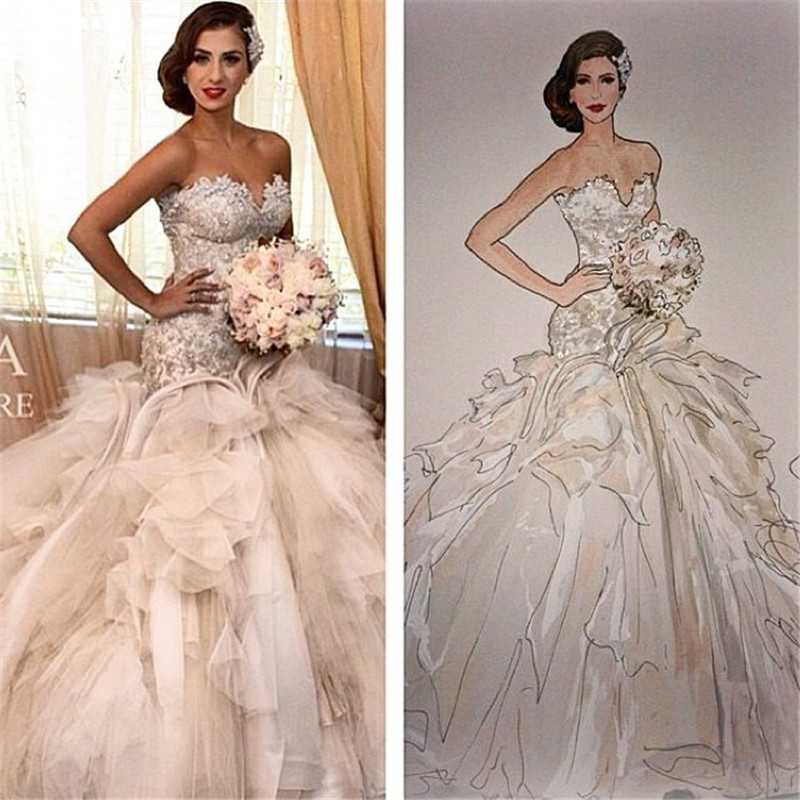 Wedding Gowns Mermaid: Luxury Bridal Gown Gorgeous Cathedral Wedding Gowns