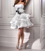 free shipping 2016 new fashion vestido de noiva bride formal plus size casamento elegant short party wedding Dress bridal gowns