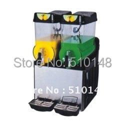 Slush Machine(XJ-2) Slush Dispenser machine drink machine 2 Tank:12Lx2 free ship cold drink machine commercial cylinder hot and cold drink machine fruit juice dispenser beverage machine