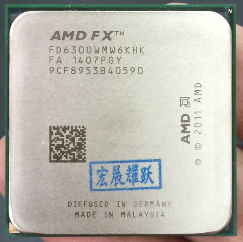 AMD FX-Série FX-6300 AMD FX 6300 Six Core AM3 + CPU plus fort que FX6300 FX 6300 100% de travail correctement processeur d'ordinateur de bureau