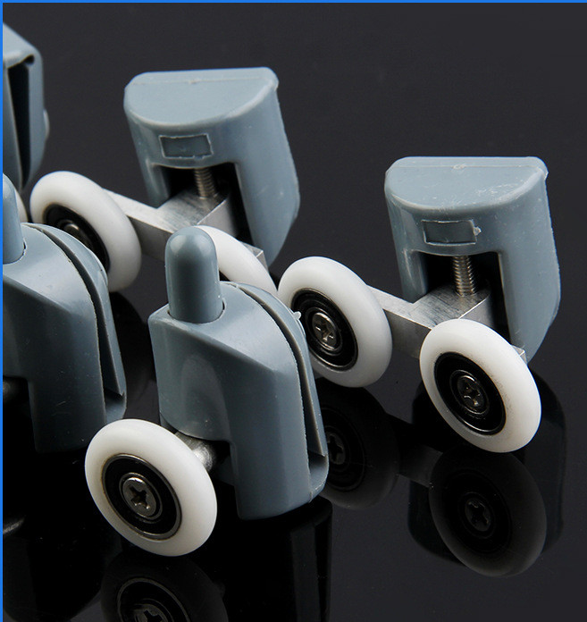 8* Shower Rooms Cabins Pulley &Shower Room Roller /Runners/Wheels/Pulleys Diameter 22MM (4double top +4 singel bottom )