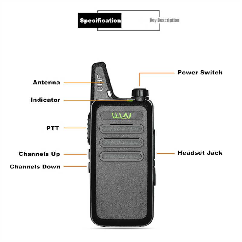 WLN KDC1 мини-рация UHF портативный радиопередатчик FM Автомобильный домофон двухсторонняя радиостанция коммуникатор Любительское радио, Си-Би радиосвязь