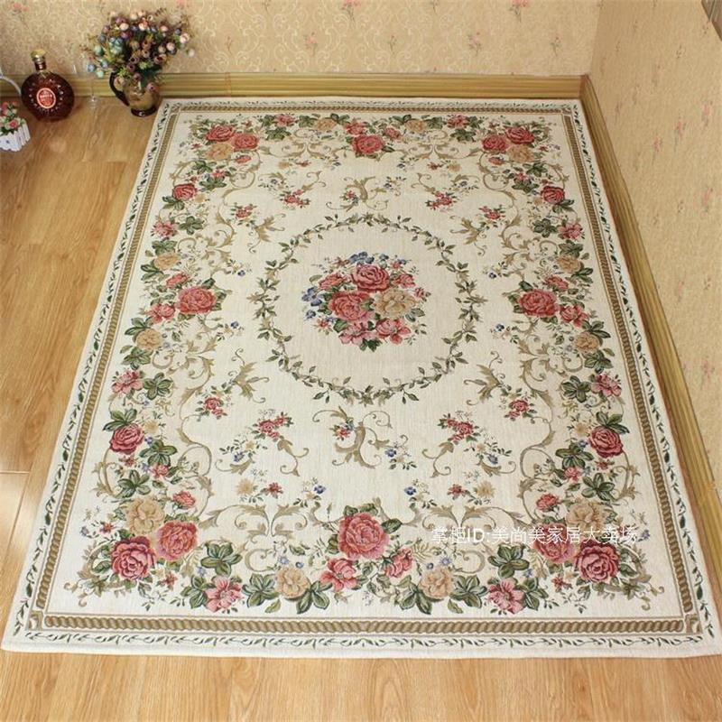 Toutes les grandes tailles tapis de Style Pastoral pour salon maison chambre tapis et tapis salle d'étude tapis de sol anti-dérapant tapis de Table