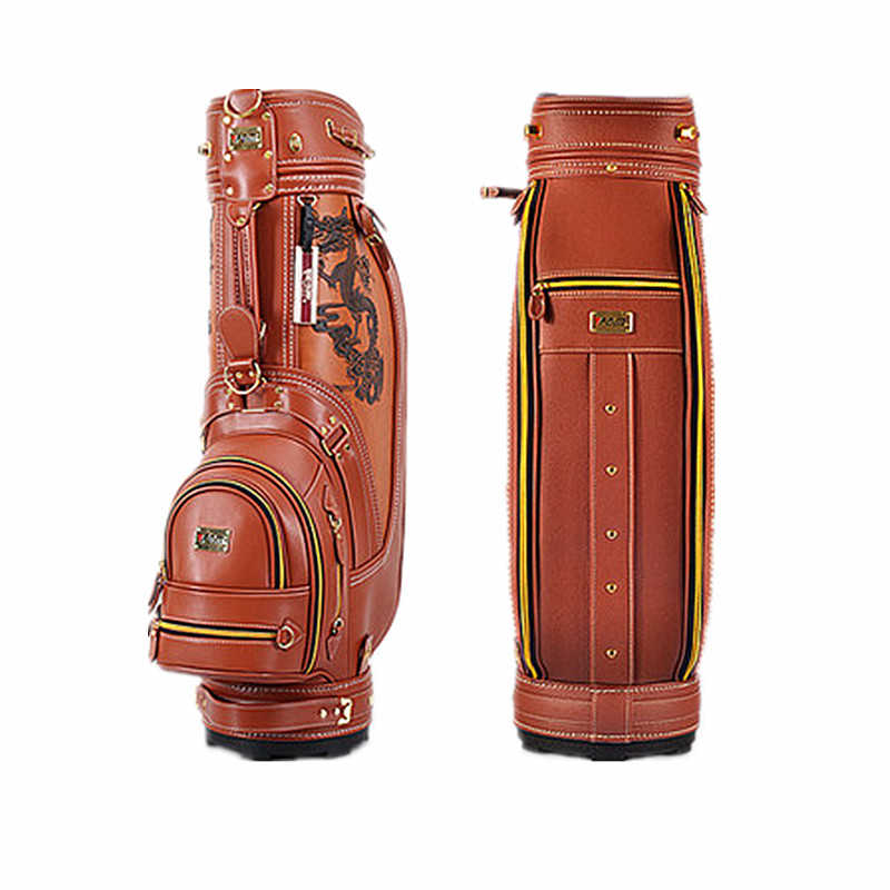 Leather Golf package bags Outdoor sports bag golf bag High-quality environmentally friendly PU material polo authentic high quality golf gun bags pu waterproof laoke lun men travelling cover 8 9 clubs 123cm golf bolsa de sport bag